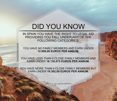 FREE LEGAL AID IN SPAIN
