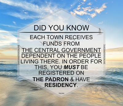 TOWN FUNDS RECEIVED FROM THE GOVERNMENT